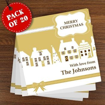 Festive Village Pack of 20 Cards